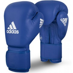 Боксерские перчатки Adidas с лицензией AIBA (синий, AIBAG1)