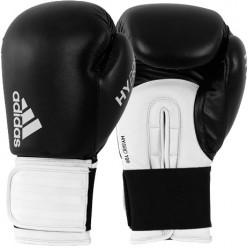 Боксерские перчатки Adidas Hybrid 100 (черный-белый, ADIH100)