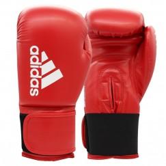 Перчатки боксерские Adidas Hybrid 100 (красно-белый, ADIH100SMU)