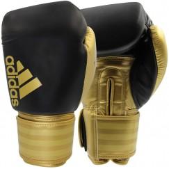 Боксерские перчатки Adidas Hybrid 200 (черный-золотой, ADIH200BR)