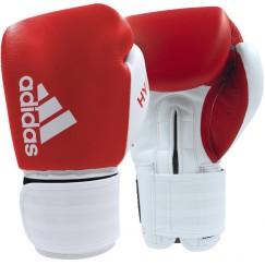 Боксерские перчатки Adidas Hybrid 200 (красный-белый, ADIH200)