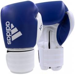 Боксерские перчатки Adidas Hybrid 200 (синий-белый, ADIH200)
