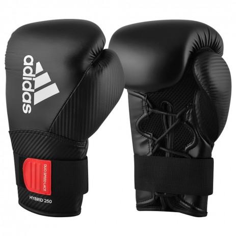 Боксерские перчатки Adidas Hybrid 250 Duo (черные, ADIH250TG)
