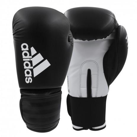Перчатки боксерские Adidas Hybrid 50 (черно-белый, ADIH50)