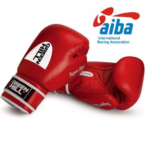 Боксерские перчатки Green Hill Super Star лицензированные AIBA