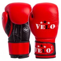 Боксерские перчатки кожаные Velo AIBA 2080 (красный)
