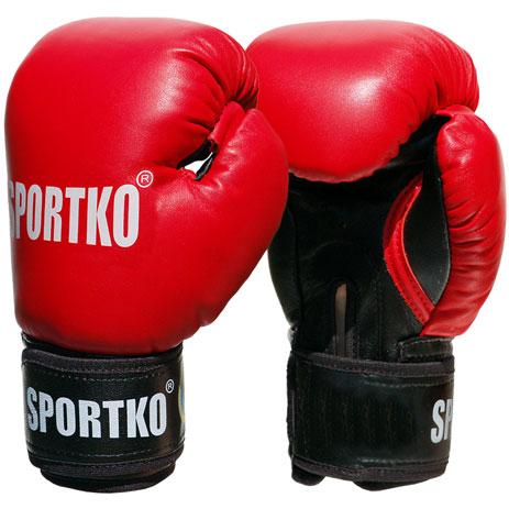 Боксерские перчатки SPORTKO кожаные ФБУ ПК1