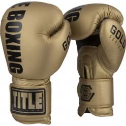 Боксерские тренировочные перчатки Title Gold