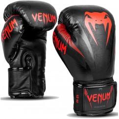 Боксерские перчатки Venum Elite Black Red