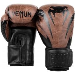 Боксерские перчатки Venum Impact Classic Black Brown
