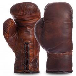 Боксерские перчатки кожаные Vintage F-0312