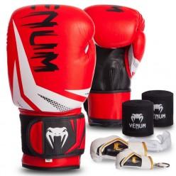 Боксерский набор 5в1 VENUM 016 (перчатки, бинты, капа, брелоки 2уп)