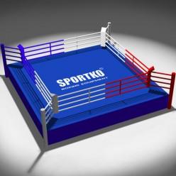 Боксерский ринг Sportko Профессиональный (7,8x7,8 м)