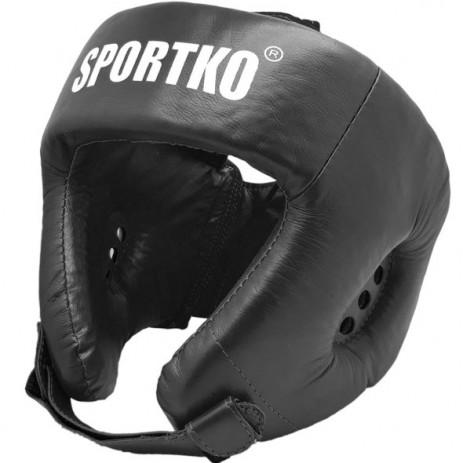 Боксерский шлем Sportko ОК1 (верх шнуровка)