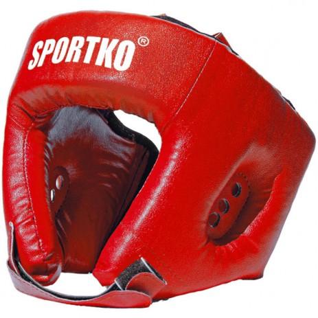Боксерский шлем Sportko ОД2 (верх мягкий крестообразный)