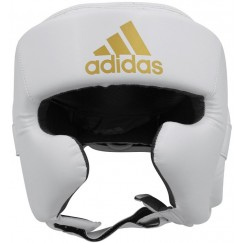 Боксерский шлем Adidas Speed Super Pro Training (бело-золотой, ADISBHG042)
