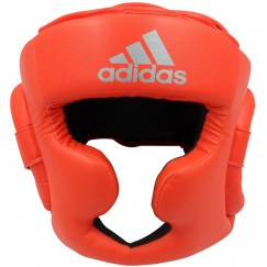 Боксерский шлем Adidas Speed Super Pro Training Extra Protect (ярко красный/серебро, ADISBHG041)