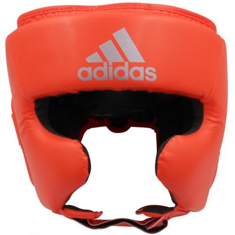 Боксерский шлем Adidas Speed Super Pro Training (ярко красный/серебро, ADISBHG042)