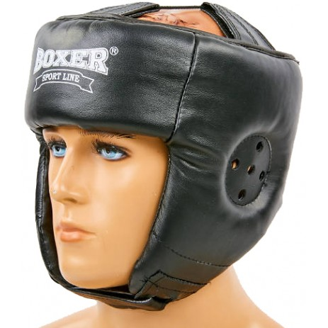 Боксерский шлем Boxer (кожа)