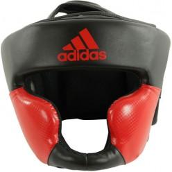 Боксерский шлем тренировочный Adidas Response Standard (черный-красный, ADIBHG023)