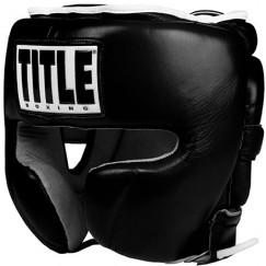 Боксерский шлем тренировочный Title Boxing Leather