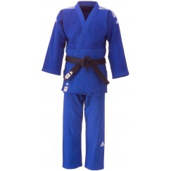 Кимоно для дзюдо Adidas Champion 2 с лицензией IJF (синий/белые полосы, J750B)