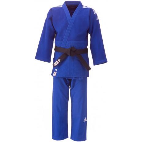Кимоно для дзюдо Adidas Champion 2 с лицензией IJF (синий)
