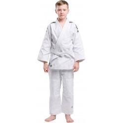 Кимоно для дзюдо Adidas Club (белое с черными полосами, J350W)