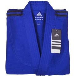 Кимоно для дзюдо Adidas Club (синий/чёрные полосы, J350B)