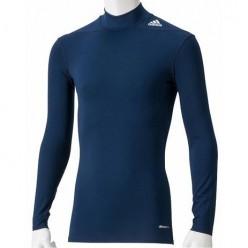 Компрессионная футболка с длинным рукавом Adidas TechFit Base (синий)