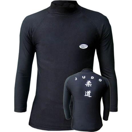 Компрессионная футболка с длинным рукавом Green Hill Judo
