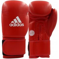 Кожаные перчатки для кикбоксинга Adidas WAKO (красный, ADIWAKOG1)