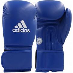 Кожаные перчатки для кикбоксинга Adidas WAKO (синий, ADIWAKOG1)