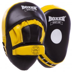 Лапы боксерские гнутые Boxer Элит (кожа)