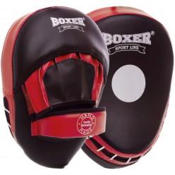 Лапы боксерские гнутые Boxer Элит (кожвинил)