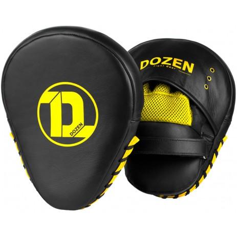 Лапы для бокса Dozen Monochrome Training Black/Yellow