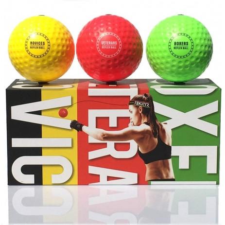 Мяч-тренажер для бокса Файтбол TEKXYZ Boxing (3 мяча)