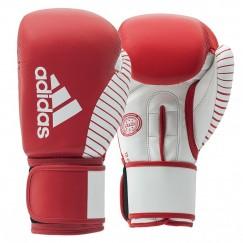 Перчатки для бокса и кикбоксинга Adidas с лицензией Wako (красно-белый, adiKBWKF200)