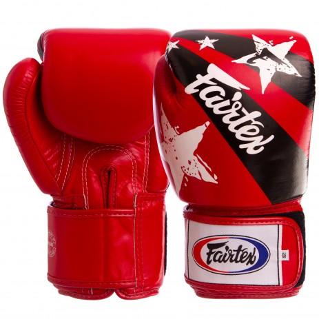 Боксерские перчатки кожаные FAIRTEX BGV1N NATION PRINT