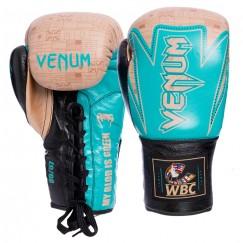 Боксерские перчатки кожаные на шнуровке VENUM Hammer Pro VL-2021