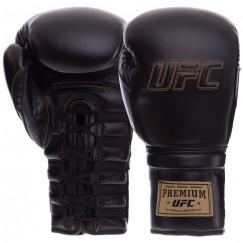Боксерские перчатки кожаные професиональные UFC PRO Prem Lace Up UHK-75044 (12 унций)