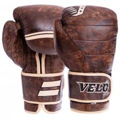 Боксерские перчатки кожаные VELO VL-2214