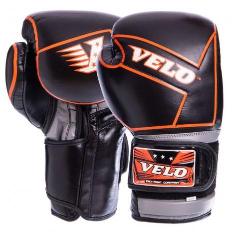 Боксерские перчатки кожаные VELO VL-2218