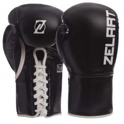 Боксерские перчатки на шнуровке Zelart BO-1348