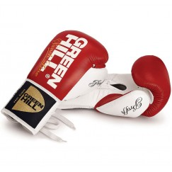 Перчатки для бокса на шнурках Green Hill Proffi