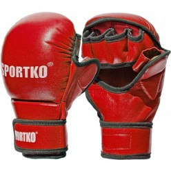 Перчатки с открытыми пальцами SPORTKO ПК7