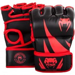 Перчатки ММА Venum Challenger Without Thumb Black Red
