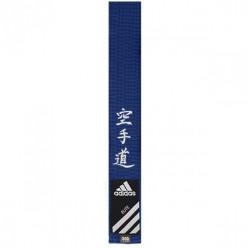 Пояс для карате Adidas Elite с вышивкой (синий, ADIB242)