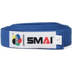 Пояс для кимоно Smai с лицензией WKF (голубой)
