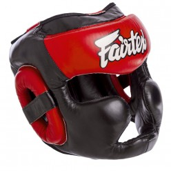 Боксерский шлем с полной защитой кожаный FAIRTEX HG13-LACES